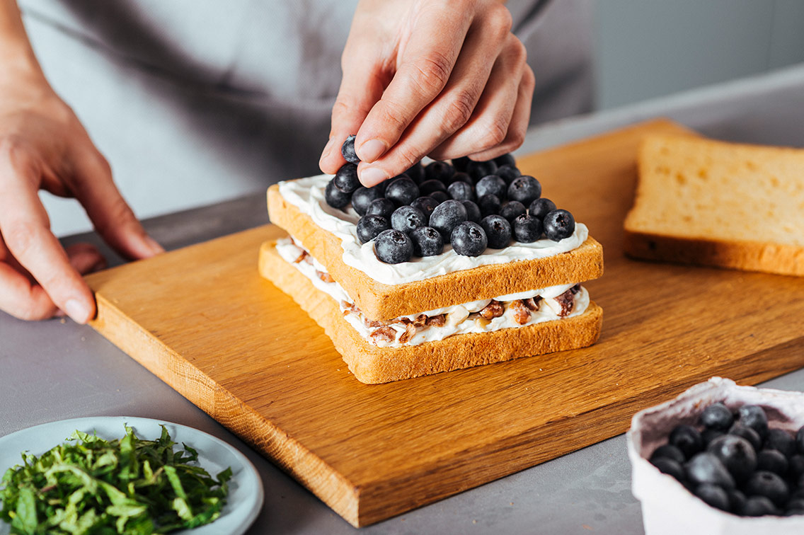 Blueberry Cheesecake High Protein Toast