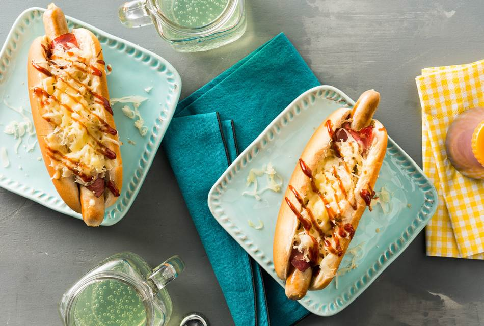 Kraut Pastrami Hot Dog